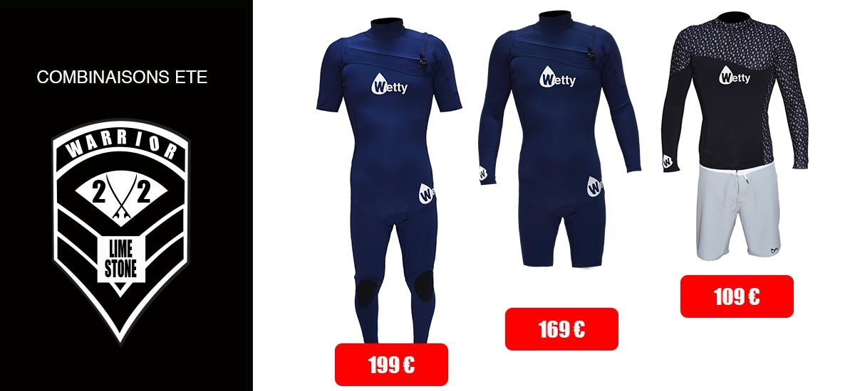 COMBINAISONS DE SURF ETE WETTY WARRIOR
